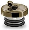 Tub Stopper in Antique brass