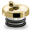 PVD Polished Brass Finish Flip It Tub and Shower Stopper