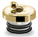 Tub Stopper in polished brass