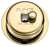 Flip-It P-126 Replacement Bathtub Drain Stopper - PVD Brushed